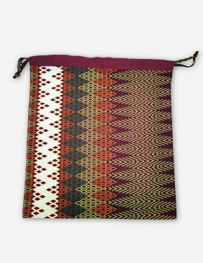AFRICAN WAX FABRICS SHOE BAG